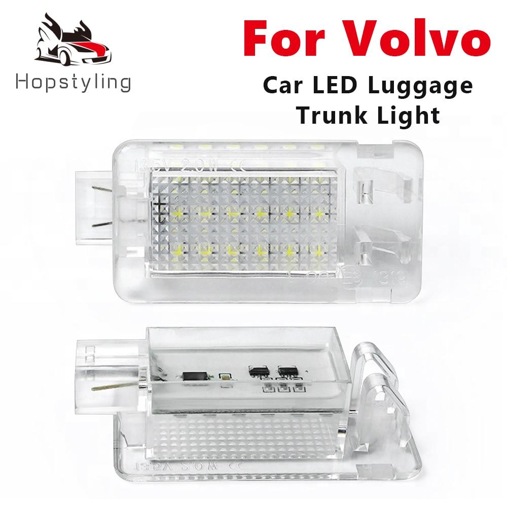 2pcs tronco lampadas led bagageira luz para volvo xc70 s60 v60 s80 c70 v70 xc90 c30