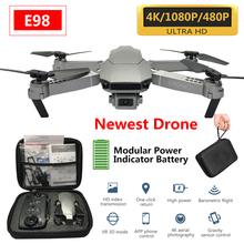 NEW E98 Drone HD Wide Angle 4K WIFI 1080P FPV Drones Video Live Quadcopter Height to Maintain rc Drone with Camera vs e58 e68 hubsan x4 h107d fpv rc quadcopter drone hd camera lcd transmitter live video audio streaming recording helicopter vs v686g x350