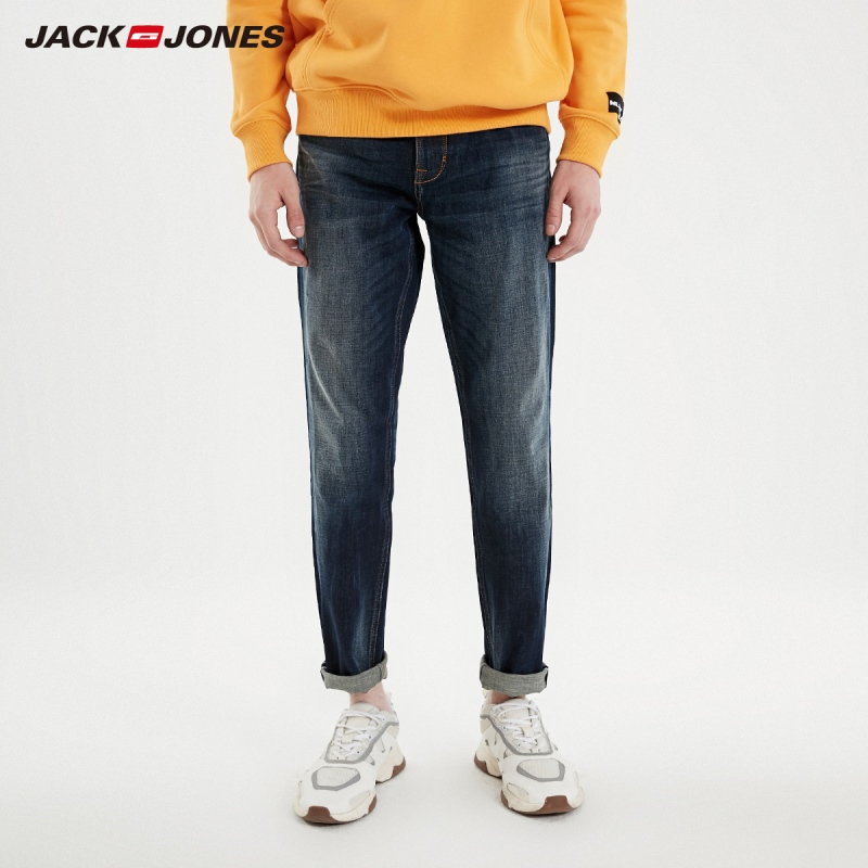 JackJones Men's Spring Fashion Trends Slim Fit Stretch Tight-leg Jeans Menswear|Streetwear 219132550