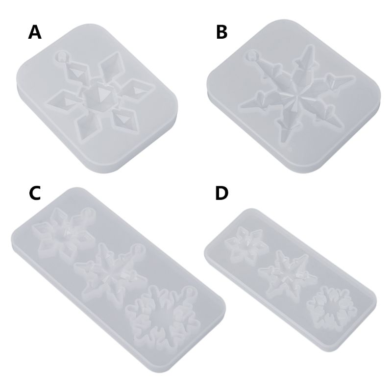 Silicone Mold Mirror DIY Snowflake Handmade Crafts Epoxy Resin Gifts Molds Silica Jewelry Making Pendant Crystal Necklace