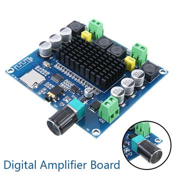 TDA7498 Amplifier Board DC 12-24V 100W*2 Digital Audio Power Amplifier Module Stereo Dual Channel 100W+100W Amplificador 2 dual channel tda2030a amplifier module in ac dc power supply can be pcb empty plate parts products