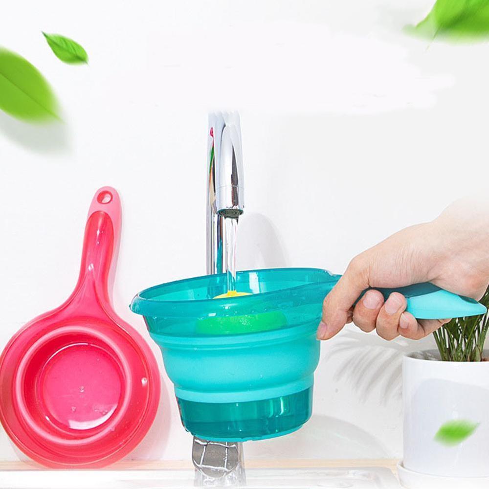 Folding Water Ladle Collapsible Spoon Kitchen Bathroom Scoop Bath Shower Washing  Kitchenware Kitchen Gadgets Accessories