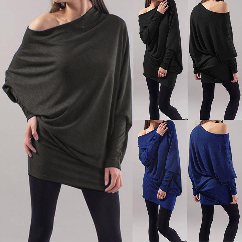 ZANZEA Women's Blouse Sexy Off Shoulder Shirt 2019 Autumn Ladies Casual Loose Tops Female  Sleeve Tunic Blusas Plus Size