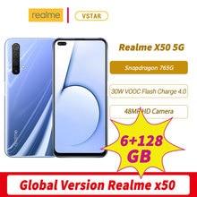 오리지널 Realme X50 5G 글로벌 버전 스마트 폰 6.57 인치 6GB 128GB 금어초 765G Octa Core 안드로이드 10 SA/NSA NFC
