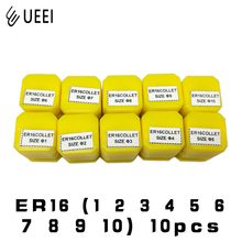 10 pcs ER16 1 2 3 4 5 6 7 8 9 10MM Spring Collet High Precision Collet Set For CNC Engraving Machine Lathe Mill Tool