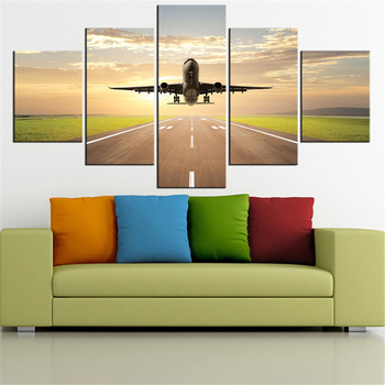5 Pieces Panel Modern Canvas plane Painting Wall Art The Picture For Home Decoration print Giclee Artwork For Wall Decor
