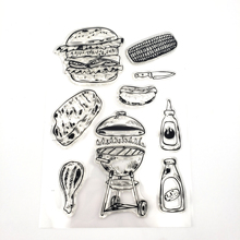 JCarter Clear Rubber Stamps for Scrapbooking Barbecue Tool Stamp Silicone Seals Craft Stencil Album Card Make Decoration Sheet