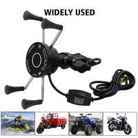 Motorcycle Phone Holder Two-in-one Charger Quick Charge 3.0 Wireless Fast Charging 360 Degree Rotation Motorcycle stand