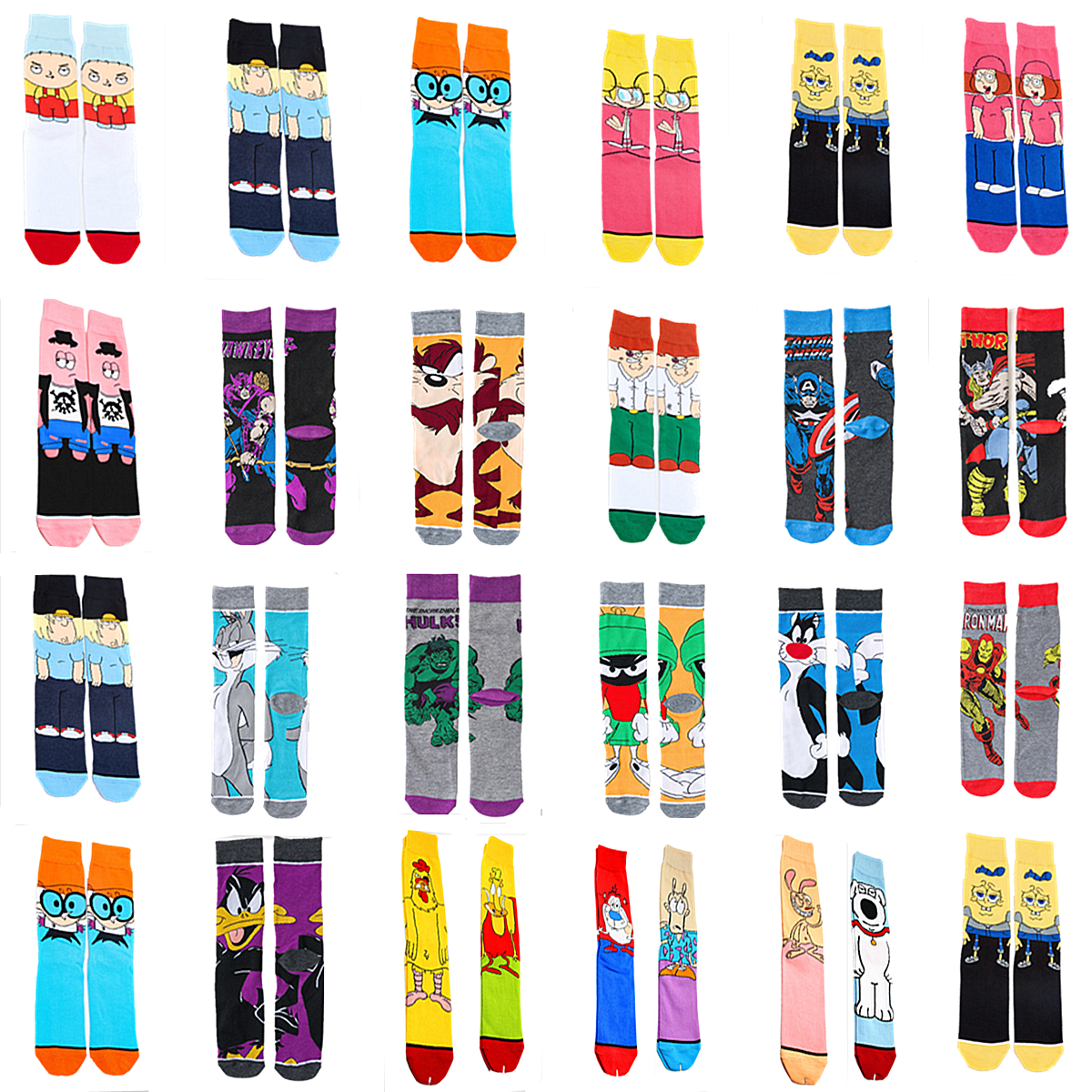 Personality Funny Anime Socks Fashion Cartoon Happy Men Women Sock Novelty High Quality Stitching Pattern Cotton Crew Skarpety