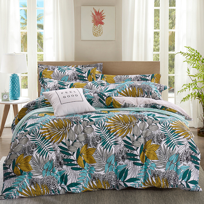 DOHIA Pastoral Style Summer Bedding Article Manufacturers Direct Selling Pure Cotton Fresh Product Four-piece Set Cotton Island-