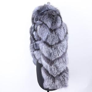 Image 4 - MAO mao KÔNG mùa đông thực cáo lông Áo khoác nữ vải dù tự nhiên thật cáo lông nữ áo khoác nữ áo Khoác Da Lót Lông