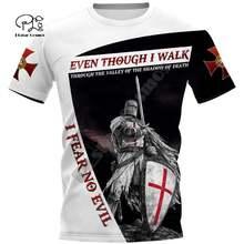 Мужская женская рыцарская темплар футболка летние 3d футболки
