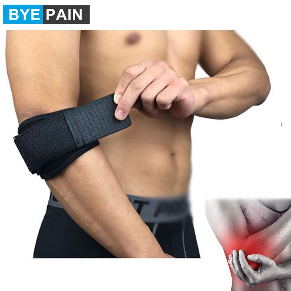 1 шт. BYEPAIN Теннисный налокотник для Tendonitis-с компрессионной подушечкой для тенниса и Гольфиста налокотный ремешок-снимает боль в предплечье