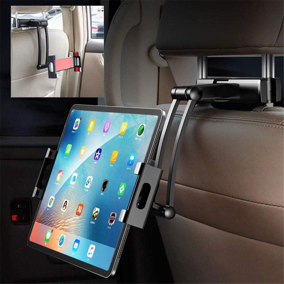 Support pour voiture tablette support voiture oreiller arrière pour Ipad 2/3/4 Air 7-11 'support de Rotation universel 360 siège arrière support de voiture repose-mains PC