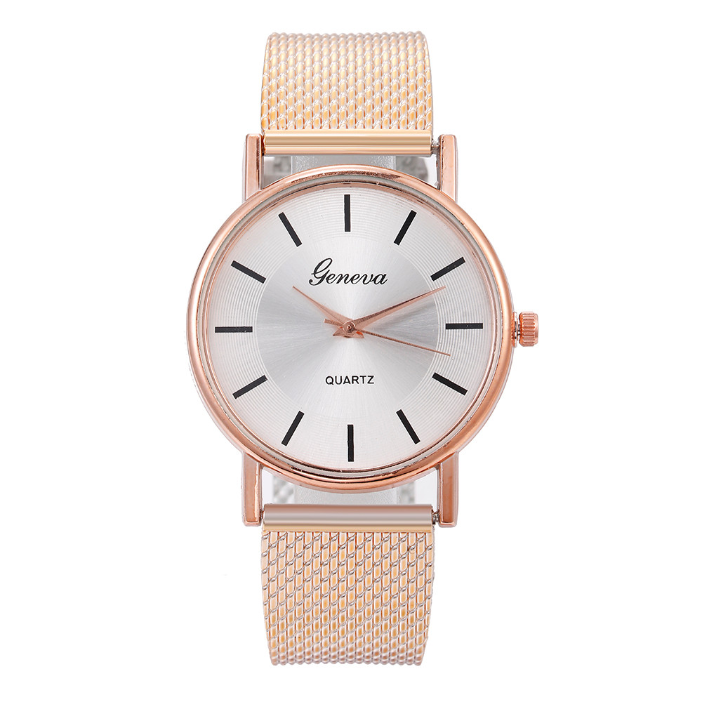 New Luxury Women Geneva Simple Watches Female Clock Quartz Wristwatch Fashion Ladies Wrist Watch Reloj Mujer Relogio Feminino @F