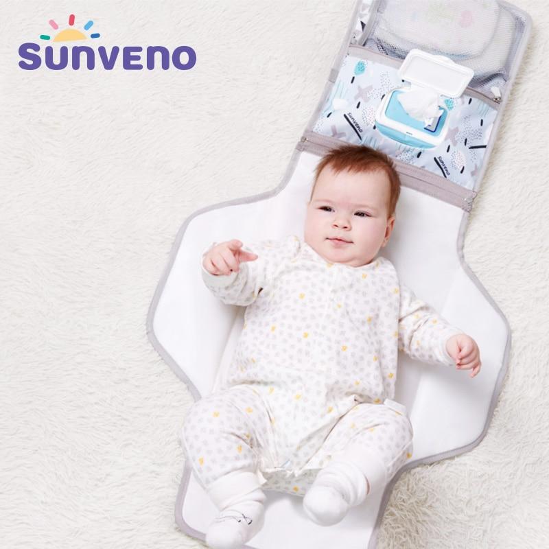 Sunveno Baby Changing Mat Portable Foldable Washable Waterproof Mattress Changing Pad Mats Reusable Travel Pad Diaper