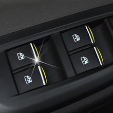 Coche-accesorios Interior de acero inoxidable Puerta de coche ventana interruptor levantar perilla de ajuste para Chevrolet Cruze Chevrolet Malibu, Trax para Opel Mokka