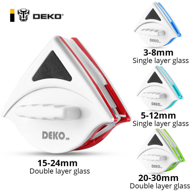 DEKO Magnetic Window Glass Cleaner Household Cleaning Tool Window Wiper Magnet Double Side Magnetic Glass Brush Tool for Washing