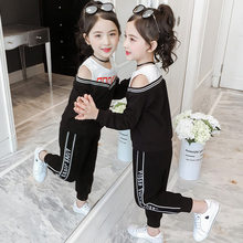 Get more info on the Girl Baby Clothing New Year Costume Elegant Off Shoulder Long Sleeve Top V-neck Set Kids Tracksuit Suit for Girl Teenage Clothes