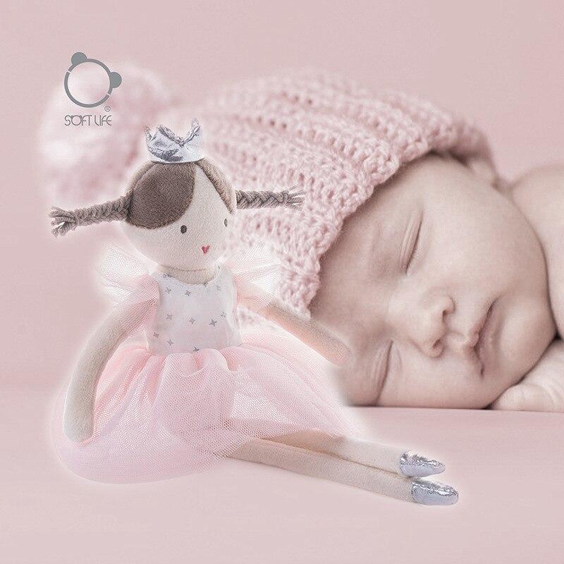 30cm Pink Ballet Girl Doll Stuffed Toys Plush Animals Kids Toys For Girls Children Boys Kawaii Baby Plush Toys Cartoon Soft Toys