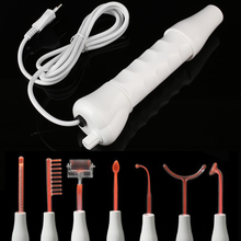 Face-Body-Massage D'arsonval High-Frequency Skin-Care Facial Beauty Spa Red 7-In-1 Electrode