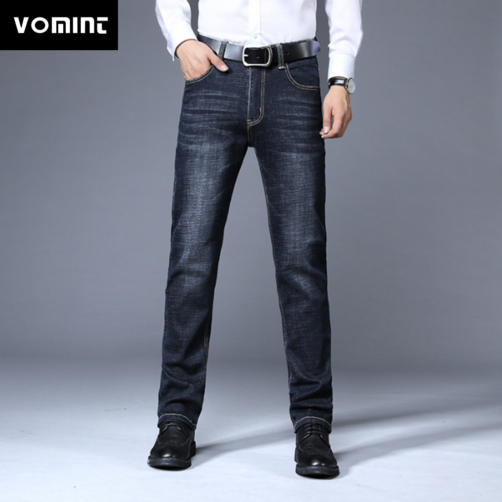 VOMINT Men Jeans Jean Homme Skinny Slim Fit Black Blue Denim Spijkerbroeken Heren Biker Stretch Pants Trousers Casual Distressed image
