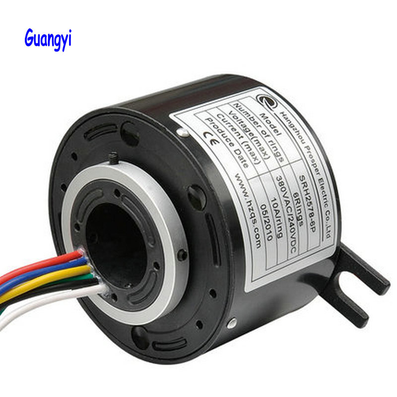Original SRH1254 Series Through-bore Slip Ring <font><b>6</b></font> <font><b>12</b></font> 18 <font><b>24</b></font> Circuits image