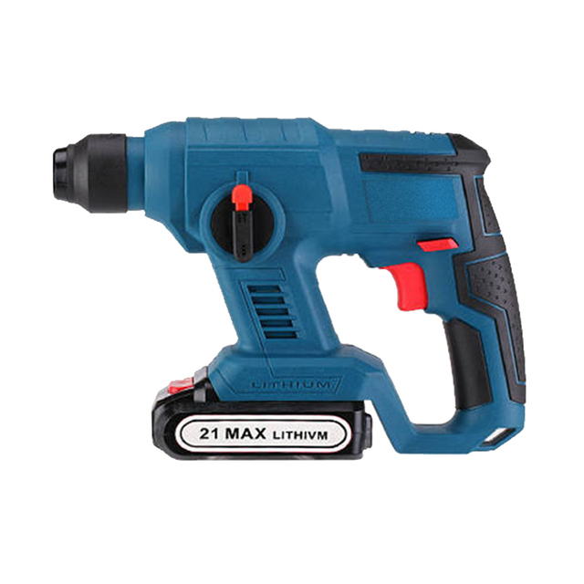 21V Electric Hammer Cordless Lithium Ion Hammer Drill Electric Perforator impact hammer with LED light