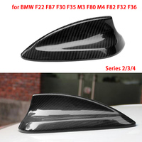 Car Shark Fin Antenna Carbon Fiber Auto Radio Signal Aerials Roof Antennas for BMW F22 F87 F30 F35 M3 F80 M4 F82 F32 F36