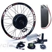 Kit de bicicleta elétrica tipo cassete  8s ou 9s 52v 2000 w  kit de conversão de bicicleta elétrica com 52 bateria de lítio v 13ah ts