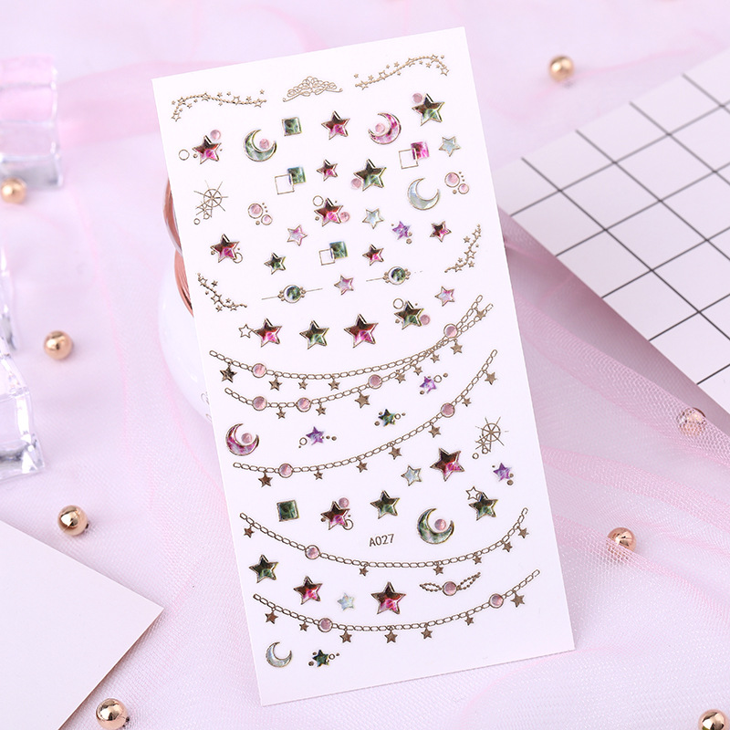 3D Nail Sticker Nail Ornament Nail Sticker Manicure Machine Manicure Flower Stickers Bronze Nail Sticker Metal Flower Stickers