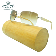 Simple Luxury Bamboo Sunglasses Men Women Fashion Classic Wood Brand Designer Original Frame Handmade
