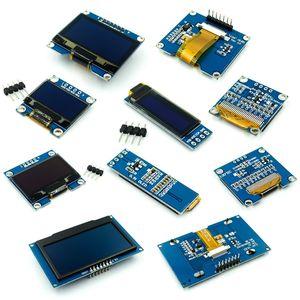 Image 1 - 0.91 0.96 1.3 1.54 2.42 אינץ IIC הסידורי לבן כחול OLED תצוגת מודול 128X64 I2C SH1106 12864 LCD עבור Arduino