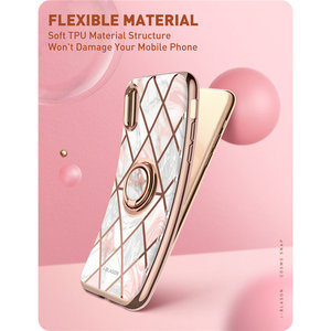 Image 3 - For iphone Xs Max Case i Blason Cosmo Snap Slim Marble Cover with Built in Rotatable Ring Holder Kickstand Support Car Mount