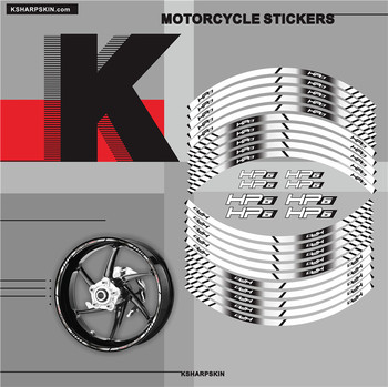Motorcycle Styling Wheel Hub Tire Sticker moto Accessories Decorative Stripe Decal suitable For BMW HP6