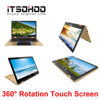 11.6 inch touch screen Netbook 2 in 1 convertible Laptops 360 degree rotating notebook computer mini intel laptop