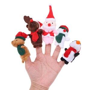 5 шт./компл. Рождественский Санта Клаус друзей палец мягкие игрушки для детей Детский благосклонность куклы с рисунком «камень-ножницы-бума...