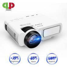 Мощный T5 мини-проектор 800*600 точек/дюйм поддержка 1080P 2600 люмен Android опционально беспроводное подключение телефона proyector домашний кинотеатр