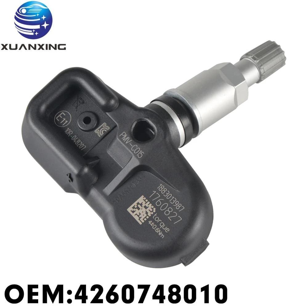 ITM Set of 4 08017DXS 315mhz TPMS Tire Pressure Sensors for Toyota Replaces OEM Part # 42607-0E020 42607-06030 42607-48010 w//Silver Aluminum Valve Stems Replacement