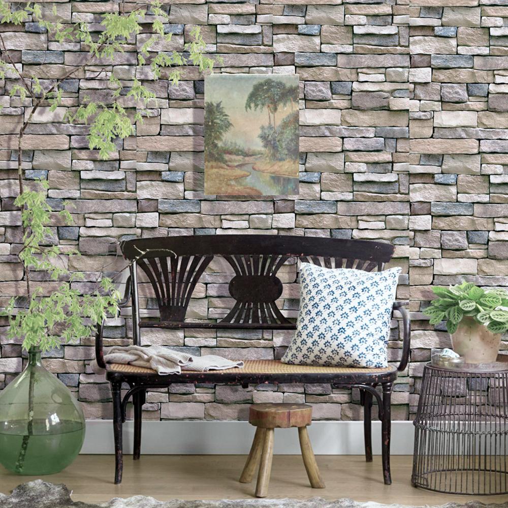 Rustic Bricks Wallpaper Peel /& Stick Removable Contact Paper SelfAdhesive Vinyl