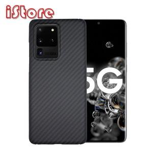 Image 1 - Capa de telefone de fibra de carbono para samsung s20 6.2 galaxy s20plus 6.7 s20ultra 6.9 ultra leve e ultra fino escudo protetor duro