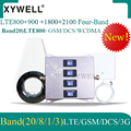 4G LTE800 900 1800 2100 mhz Handy Booster Vier-Band GSM Handy Signal Booster 2G 3G 4G LTE Cellular Repeater GSM DCS WCDMA
