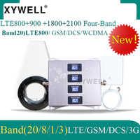 4G LTE800 900 1800 2100 mhz komórkowy wzmacniacz sygnału GSM cztery-Band GSM wzmacniacz sygnału komórkowego 2G 3G 4G LTE komórkowy wzmacniacz GSM DCS WCDMA