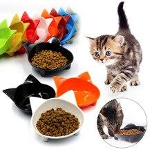 Горячая мелкая миска для кошачьего корма, широкое блюдо, нескользящая миска для кормления кошек, для облегчения усталости усов D6