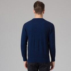 Hommes hiver 100% cachemire et laine tricoté pull o-cou à manches longues pulls hommes chandails grande taille vêtements