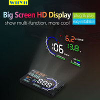Wiiyii Universal A8 Car HUD Head Up Display Projector Phone Navigation Smartphone Holder GPS Hud for Any Cars 5.5 Inch DFDF