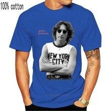 T-shirt Vintage John Lennon des années 90 pour hommes, t-shirt de ville de New York, grande taille, rêveur noir