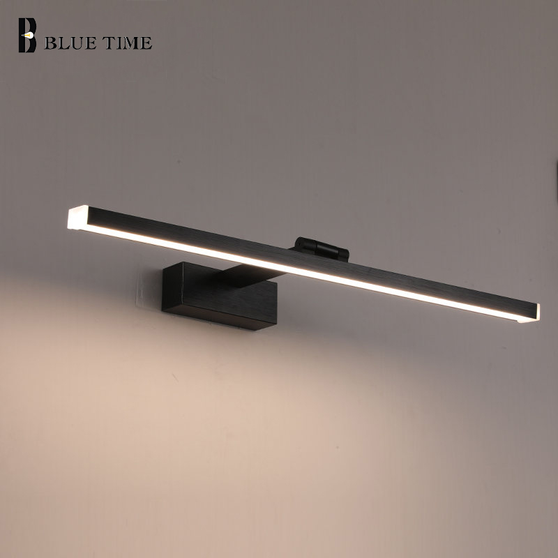Modern LED Wall Lamp Bathroom Study Room Mirror Front Light Waterproof  Metal Wall Lamp Black&Golden&Silver&Coffee