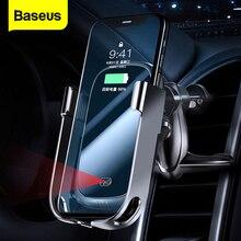 Baseus 10W Auto Qi Caricatore Senza Fili Per iPhone 11 Pro XS Max Samsung Supporto Del Telefono Per Auto Intelligente A Infrarossi Veloce wireless di Ricarica