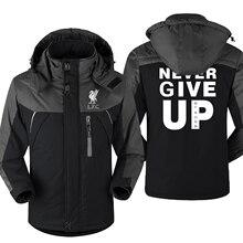 Mo Salah You'll Never Walk Alone Men's Coat Never Give Up Liverpool Man Windproof Jacket